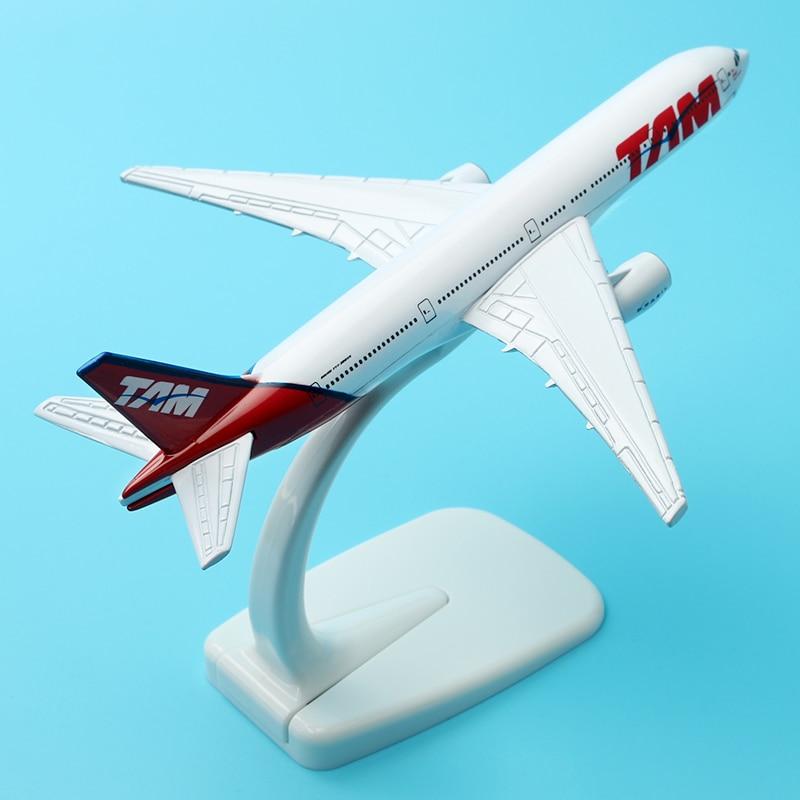 Model Plane Brazil TAM Airline Boeing 777 16cm Linhas Aereas Alloy Airplane Birthday Gift Souvenir Assembly Aircraft model стоимость