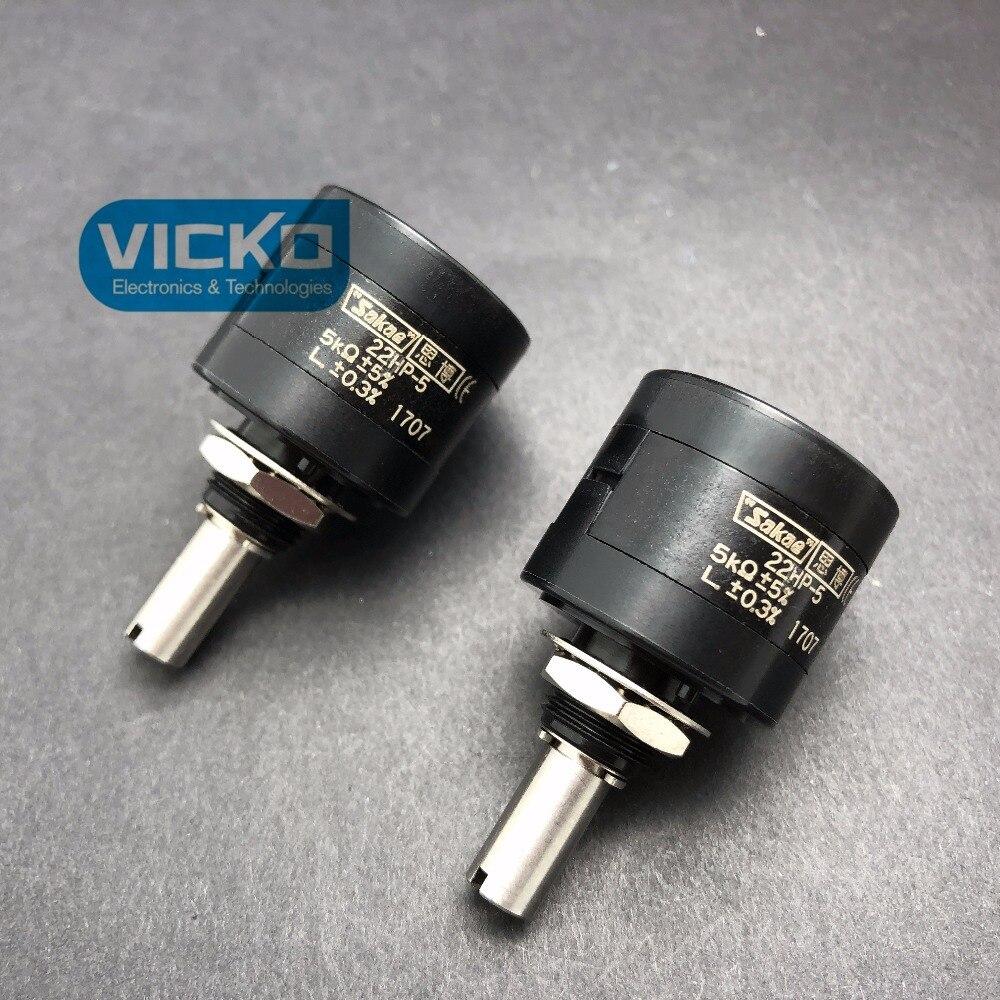 [VK] Japan original sakae 22HP 22HP-5 1K 2K 10K precision multi-circle potentiometer SWITCH 500pcs 1210 1 2k 1k2 1 2k ohm 5