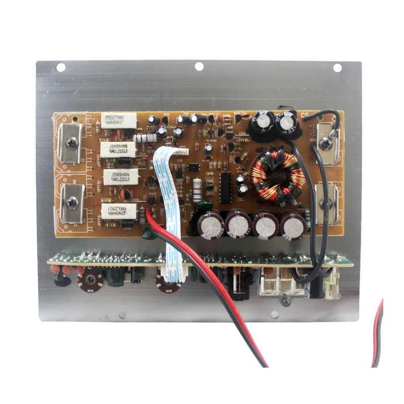 Высокая мощность В 1000 Вт 12 В сабвуфер усилитель доска активный моно Автомобильные усилители чистый бас