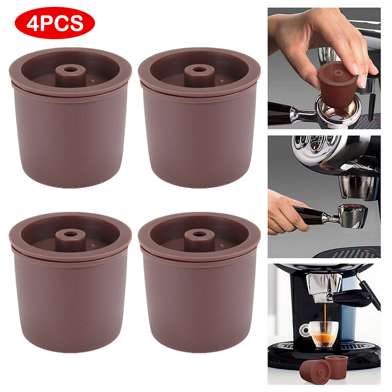 4/10pcs Reusable Coffee Filter Basket  Compatible With ILLY Eco-friendly  Refillable Coffee Capsule  Kitchen Dining Bar