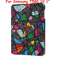 Flip Cover For  Samsung Galaxy Tab A 10.1 2016 T585 T580 SM-T580 T580N Tablet funda cases Colorful Painted Leather case +gift