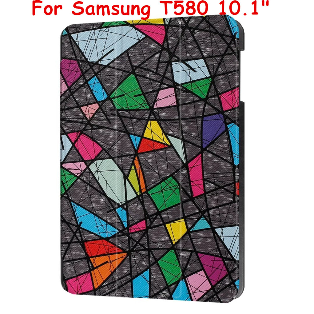 Magnetic Flip Cover leather Case For Samsung Galaxy Tab A 6 A610.1 2016 T585 T580 SM-T580 T580N SM-T585 Tablet case Smart Cover high quality cartoon print stand pu leather tablet cover protective case for samsung galaxy tab a 10 1 t580 t585 sm t580 t580n
