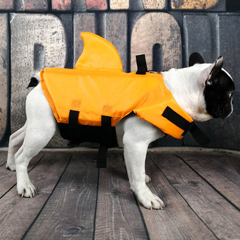 Shark Dog Life Jacket Safety Clothes Pet Life Vest Summer Dog Swimming Clothing French Bulldog Fin Jacket Play in the Sea 3