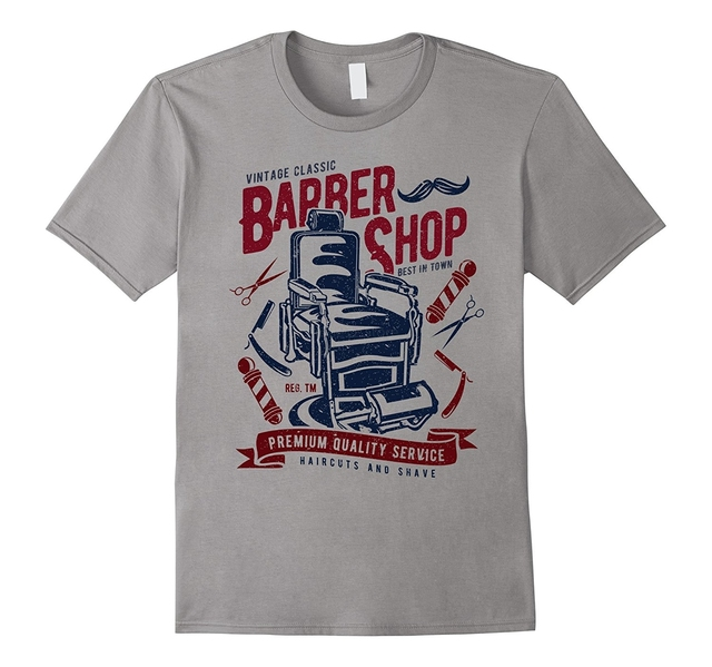 7abacd08564 2019 New Summer Fashion Men Tee Shirt Vintage Classic Barber Shop T-shirt ( barber