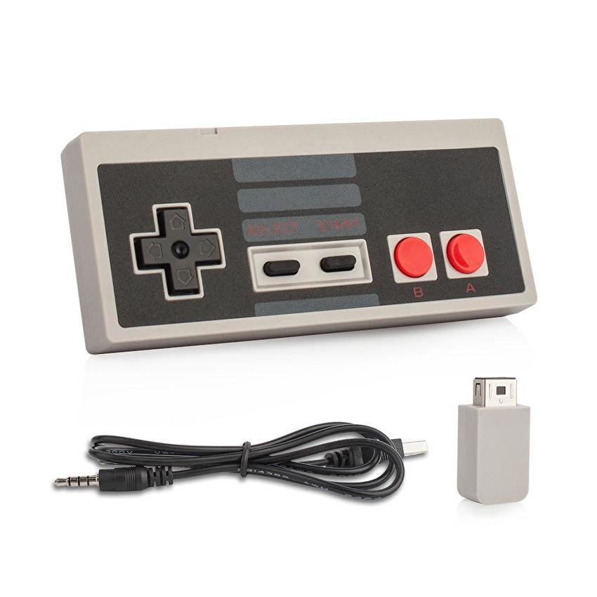 Wireless 2.4G USB Plug game Controller Gamepad for Nintendo NES Mini Buttons Classic Edition With Wrireless Receiver