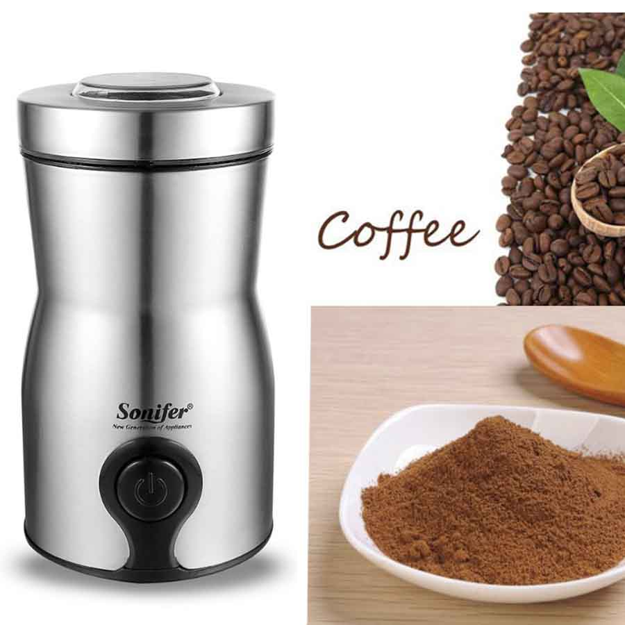 Mini High Quality Multifunction 220V Original Mini Electric Coffee Spice Grinder maker Stainless Steel Beans Mill Herbs Nuts stainless steel electric coffee spice grinder maker beans herbs nuts cereal grains mill machine home use eu plug