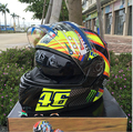 Envío gratis 2016 Nuevo 46 # Flip Up casco de moto casco integral Casco de La Motocicleta ATV casco de doble lente