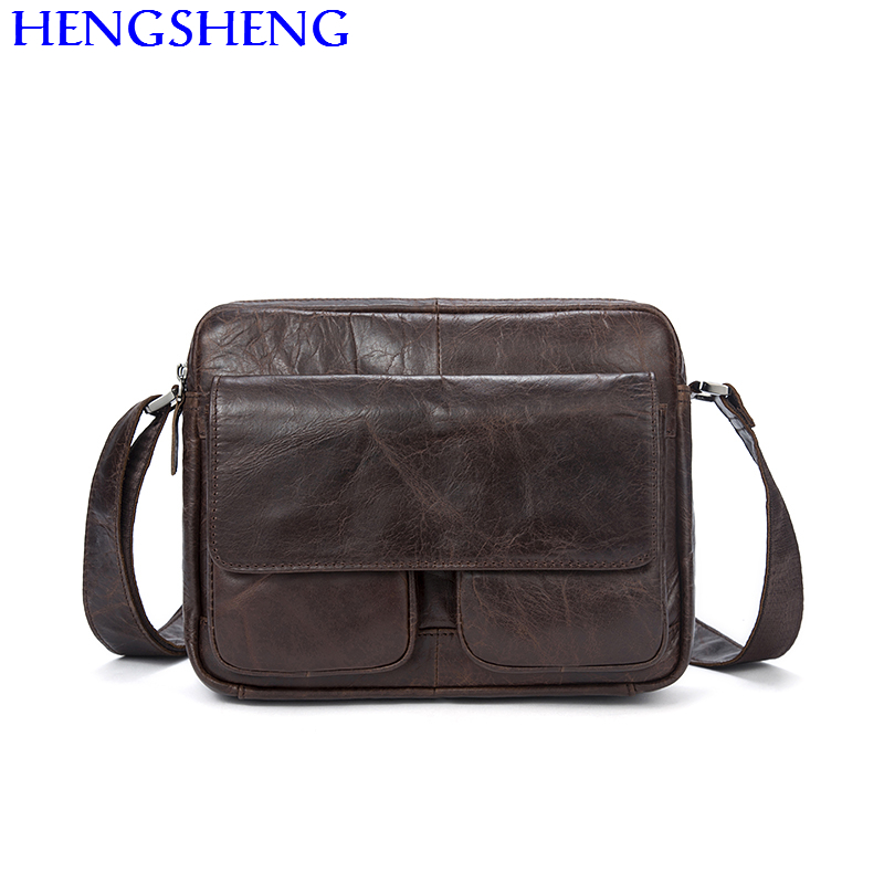 Hengsheng cheap price genuine font b leather b font laptop messenger bag for fashion business laptop