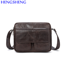 Hengsheng cheap price genuine leather laptop messenger bag for fashion business laptop bag by cow leather male shoulder bags