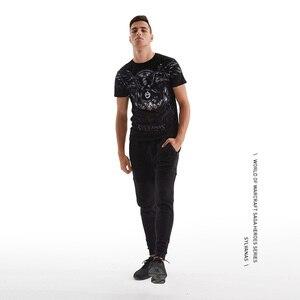 Мужская футболка с коротким рукавом TEE7, повседневная хлопковая Футболка с принтом WOW Sylvanas Windrunner and medivh, для фитнеса