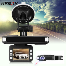 Kroak 2 IN 1 720P HD Car DVR Camera Recorders Trafic Radar Laser Speed Detector DVR Camera Russian English