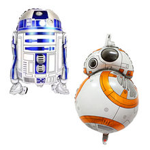 Robot Foil Balloons Inflatable toys war star Helium Balloon kids classic toys air balls happy Birthday balloons Party Supplies(China)