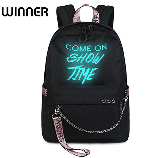 Fashion Luminous Waterproof Women Daily Backpacks College Student Bookbags  Reflective Bagpack for Girls School Knapsack 41bb24a6b5f89
