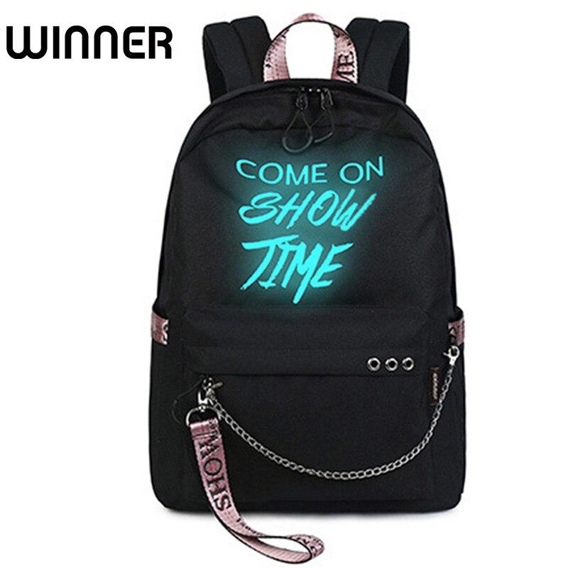 Mode Leuchtenden Wasserdichte Frauen Täglich Rucksäcke College Student Bookbags Reflektierende Bagpack für Mädchen Schule Rucksack