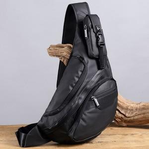 Image 3 - Mannen Waterdichte Nylon Sling Borst Terug Pack Hoge Kwaliteit Casual Messenger Schoudertas Man Cross Body Bag Fashion Rugzak Knapzak