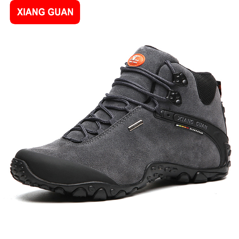 XIANG GUANG men winter boots plus size top quality cow split motorcycle retro leather boots size