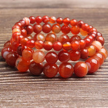 LingXiang 4/6/8/10/12mm Fashion natural Jewelry sardonyx loose beads bracelet be fit for men and women Accessories and amulets(China)