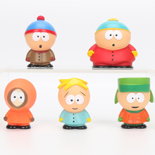 5pcs/set Anime South Park figure toys Stan Kyle Eric Kenny Leopard Mini 6cm PVC Action Figure Collectible Model Toy Kids Gifts(China)