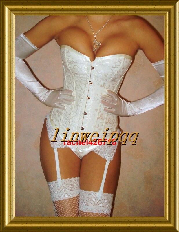 Ladies Sexy Lingerie Lace Up Burlesque Corset  L2340  Bride Wedding Party Wear  S--XL