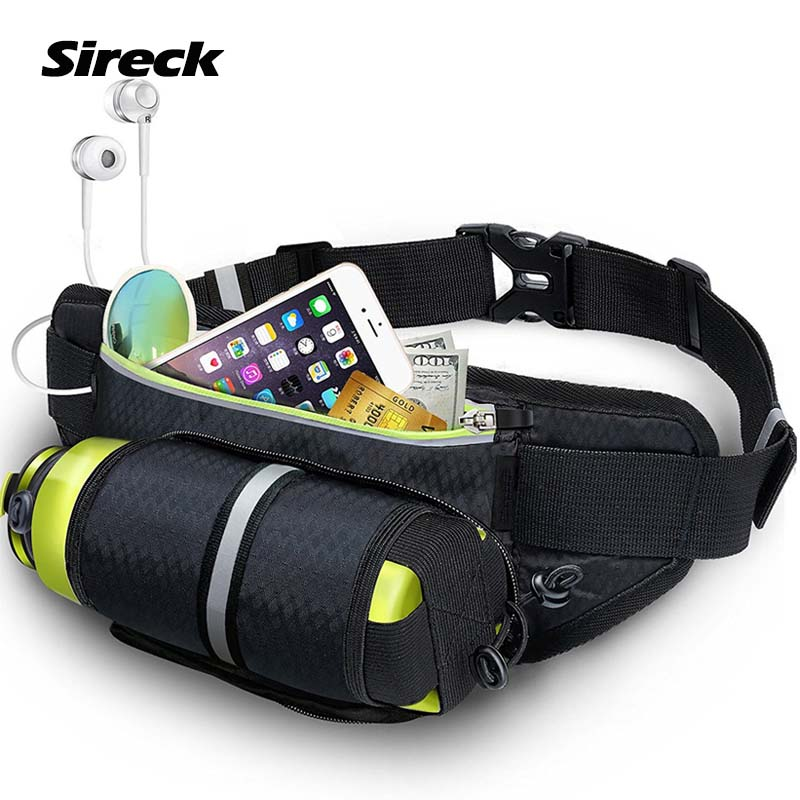Us 10 77 50 Off Sireck Running Bags Waterproof Waist Bag Sport Water Bottle Holder Fitness Phone Pouch Jogging Belt Gym Accessories In