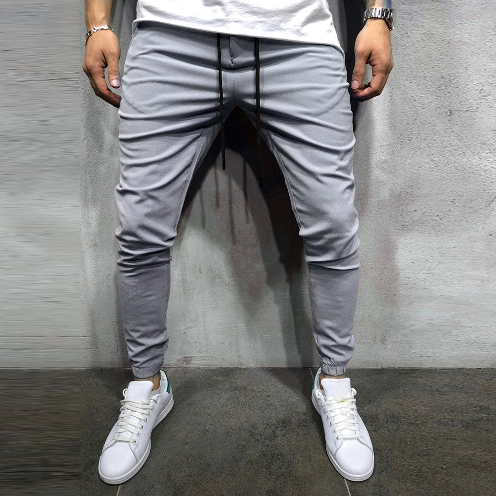 Men Casual Sportwear Baggy Jogger Soft And Comfortable Pants Slacks Ankle-Length Pants Sweatpants L50/0211