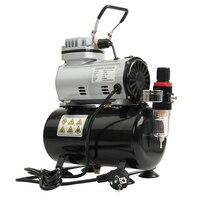 Воздушный компрессор краска распылитель Woodwork Air спрей краска без масла тихий воздушный компрессор Blast Pump Set Professional Airbrush Kit