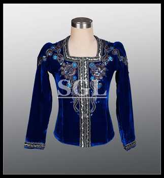 Free Shipping Professional Blue Color Male Tunic Man Ballet Top Dance Wear For Ballet Show Man\'s Ballet Jacket MT002 - DISCOUNT ITEM  5 OFF Novelty & Special Use