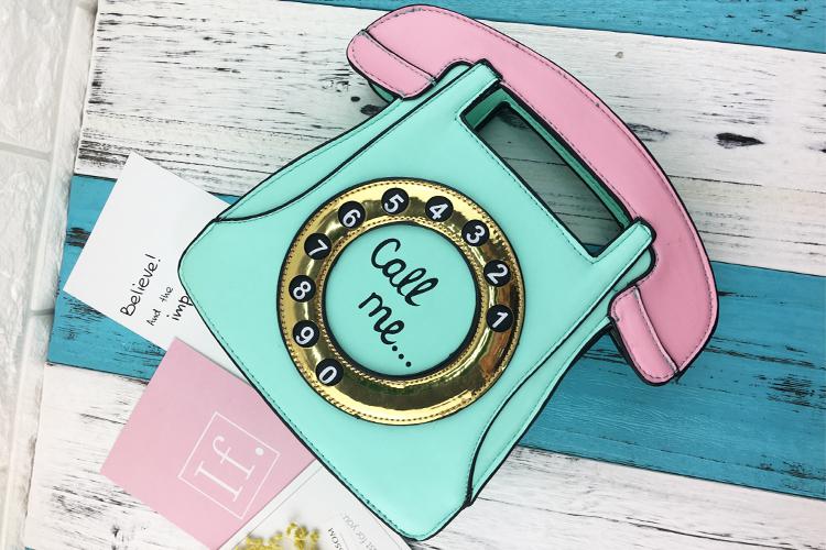 Bolsa divertida Retro Teléfono