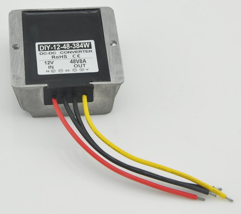 Converter DC12V (10V-18V) Step Up DC48V 8A 384W Power Supply Module Waterproof New