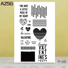 AZSG Various Style Heart-shape Clear Stamps/Seals For DIY Scrapbooking/Card Making/Album Decorative Silicone Stamp Crafts