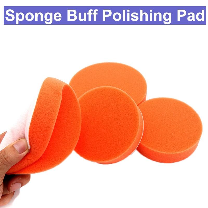 4 Inch 5 Inch 100mm 125mm Buff Sponge Polishing Waxing Buffing Pad Wheel Disc For Car Auto Polisher Buffer