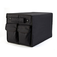 Car trunk organizer box folding storage bag black oxford car organiser for auto accessories   stowing     tidying   collapsible bags