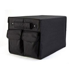 Heavy Duty oxford do samochodu organizator bagażnika pudełko składana torba do przechowywania czarny Auto Boot organizator składany organizer na torby-bagażnik-samochód