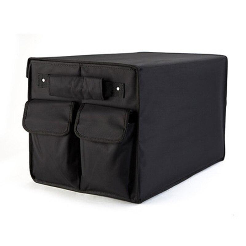 Organizador mala do carro caixa de armazenamento de dobramento saco preto oxford organizador do carro para acessórios auto estiva tidying dobrável sacos