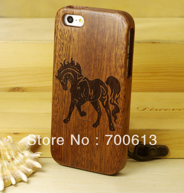 Genuine Natural rose wood Case For iPhone 5 5s