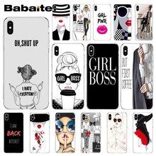 Babaite vogue girl boss Мягкий силиконовый прозрачный чехол для телефона Apple iPhone 8 7 6 6S Plus X XS MAX 5 5S SE XR Чехол для мобильного телефона