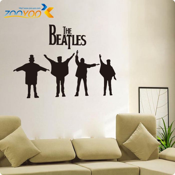 beatles wall decals designs removabl music the beatles vinyl diy wall stickers home decor living room wall art decals poster in wall stickers from home - Wall Decals Designs