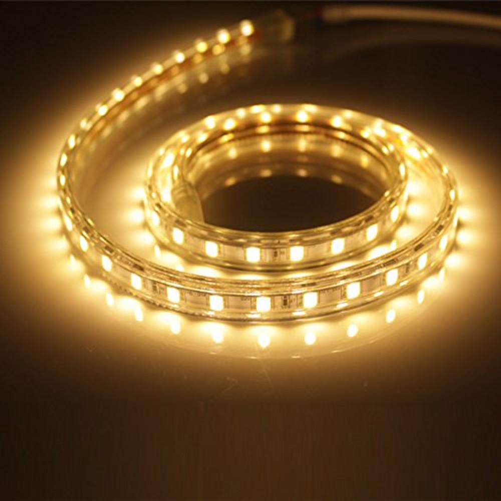 GEFÜHRTE Streifenlichter Seil Lichter Warmweiß, 60 LEDs/M 220 V ...