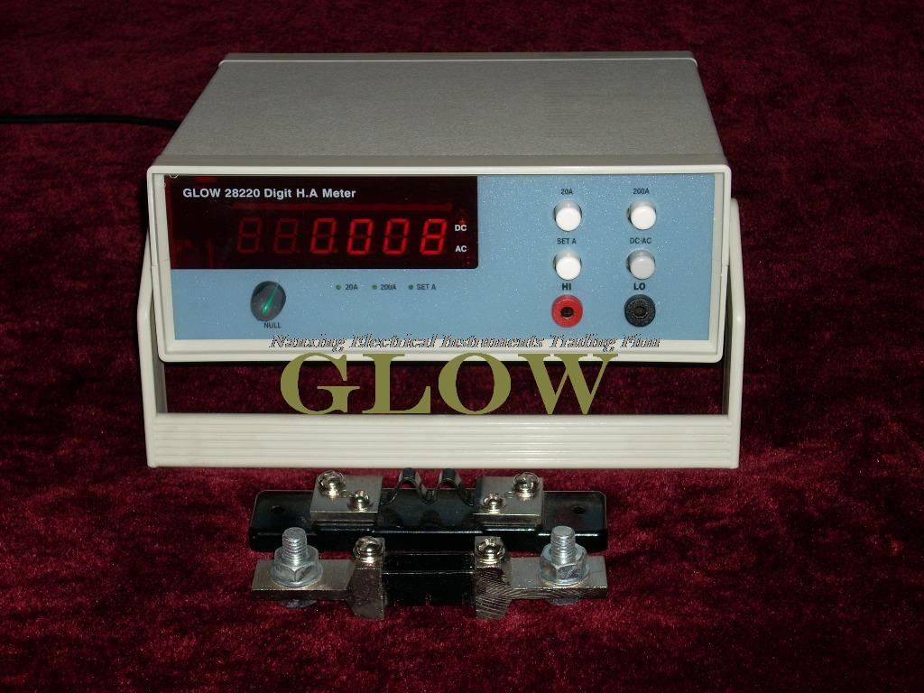 Fast arrival Desktop GLOW28220 4 1/2 digital AC/DC High Current meter High Current tester 400A/500A/1000A/2000A - 3
