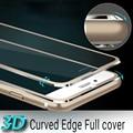 Titanium Сплава 3D Изогнутый Край полное покрытие Для iPhone 7 7 plus 6 6 S 6 плюс Закаленное Стекло Для iPhone 7 Защитная Пленка