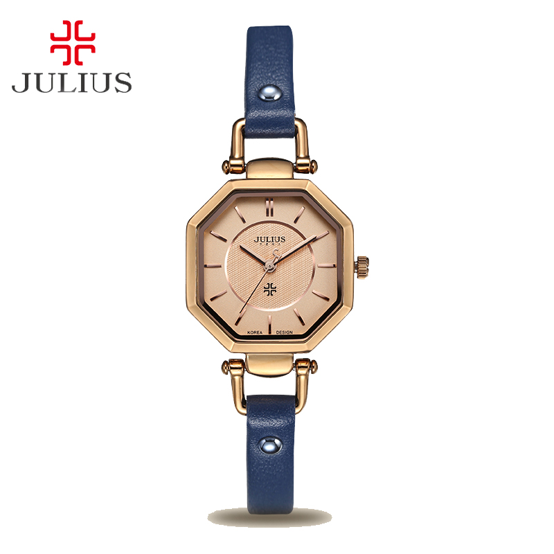 Julius Womens Lady Wrist Watch Modern Classic Fashion Hours Dress Simple Retro Leather OL Girl Birthday Lovers Mothers Gift