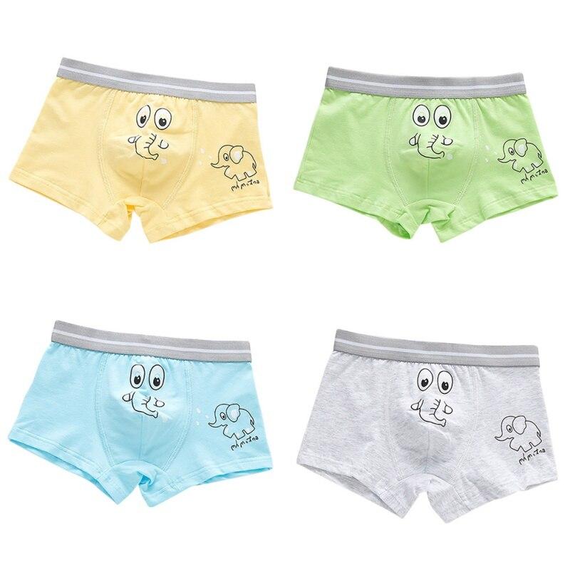 2019 4pcs Baby Underwear Boys Cotton Panties Girls Briefs Gifts Children Underwear Child Cartoon Briefs Underpants