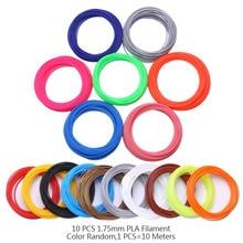 100 М 10 Цветов 1.75 ММ НОАК Накаливания Для 3D Печати ручка Темы Пластиковые 3 D Принтер Ручки Расходные Материалы Дети Дети подарок