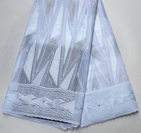 Latest Excellent High Quality Pure white Swiss Voile lace African Traditional Wedding lace fabrics Pure white swiss lace fabric