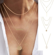 Personality Trend Models Multi-layer Clavicle Chain Strip Pendant Ladies Bohemian Necklace 2019 Fashion Gifts