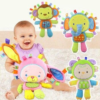 Mutlu Maymun Çocuklar Bebek Sevimli Peluş Çıngırak Doldurulmuş Hayvan Bebek Yürümeye Başlayan Çocuklar için Eğitim Öğrenme Oyuncaklar Hediye 0-12 ay