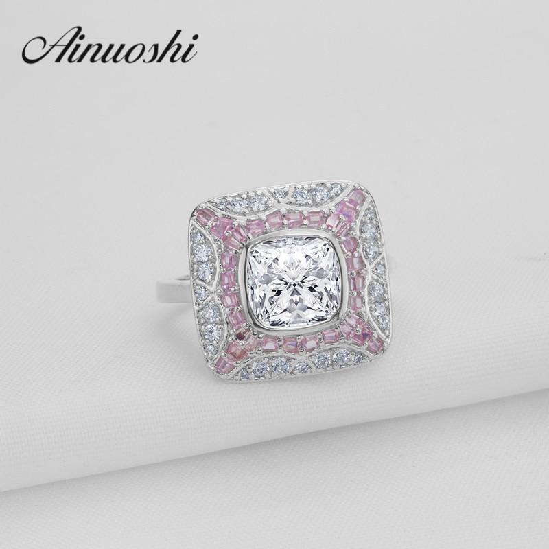 Classique 1.9 ct rond coupe cubique zircone anneau brillant 925 Bijoux en argent Sterling pour les femmes de fiançailles Bijoux de mode anelli
