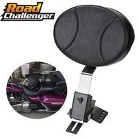 Adjustable Motorcycle Plug In Driver Rider Backrest Kit For Harley Touring FLTR FLHT 97 17
