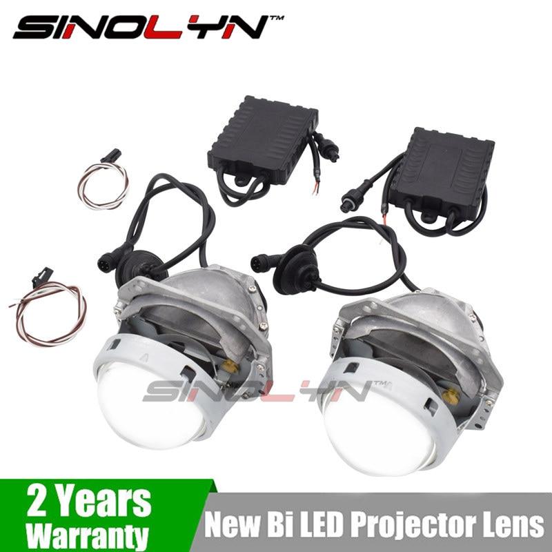 Sinolyn Car V3 Bi LED Headlight Projector Lens Lights Retrofit DIY 35W High Power Universal Custom Headlamp Lenses Tuning led projector lens headlight with ballast 35w 5500k 3 inch projector lens led car