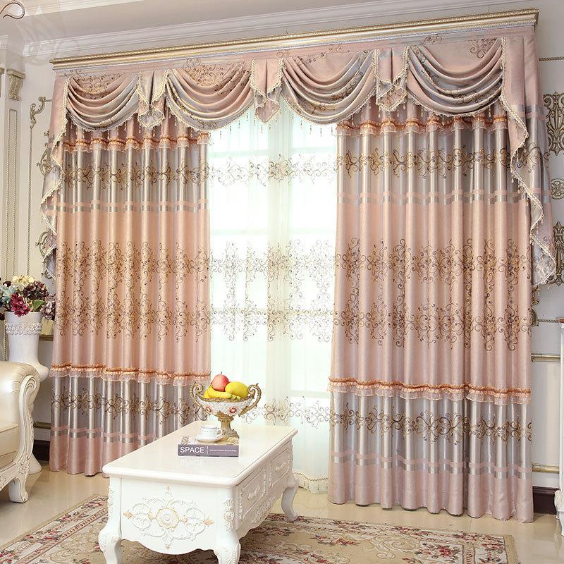 High-end Classical European Curtain The Sitting Room Bedroom Window Shade E window valance
